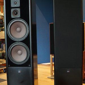 luidspreker set MB Quart S2200  zwart pianolak